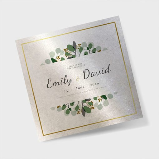 Pearl Metallic Invitation Cards printing | High-quality Square Pearl Metallic Invitation Cards printing With Shimmery paper, Pearl fibers and matching envelopes | PrintMagic