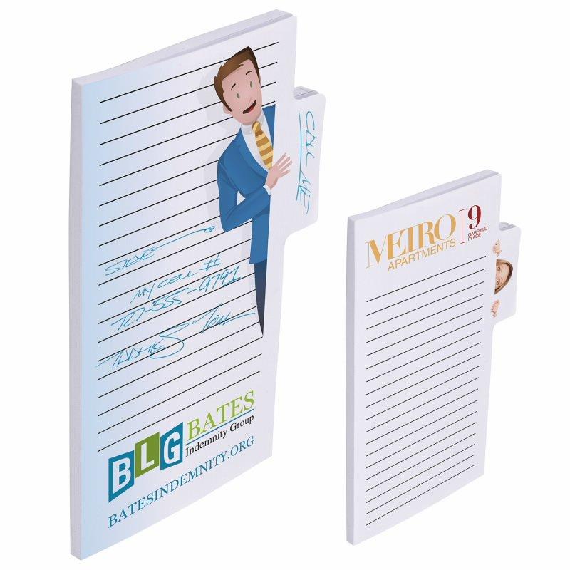"""Print BIC&#174 Memo Tab? 6"""" x 4"""" Adhesive Notepad, 25 Sheet Pad"""