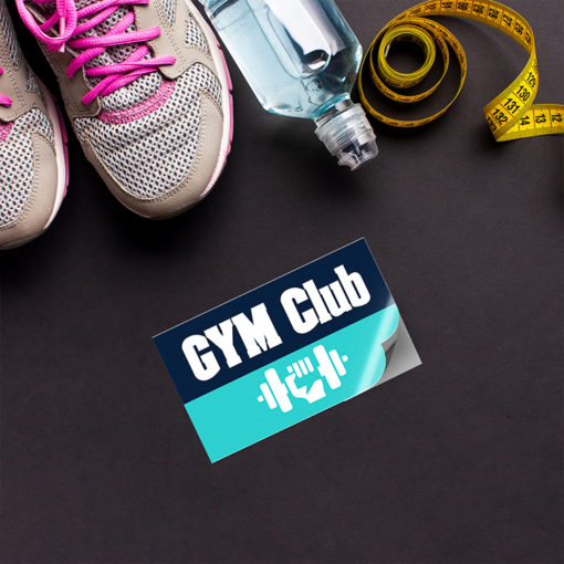 Vinyl Stickers | Horizontal Rectangle shape Printed Front side with Vinyl Matte Sticker (4mil Vinyl Matte) Paper Stock and Stickers for your gym club | PrintMagic