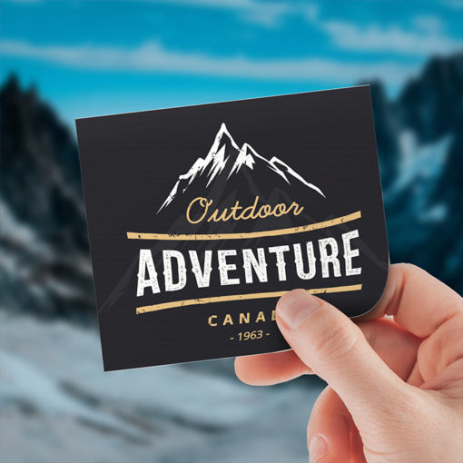 Vinyl Stickers | Square shape Printed Front side with Vinyl Matte Sticker (4mil Vinyl Matte) Paper Stock and Stickers for your promotional adventure trip | PrintMagic