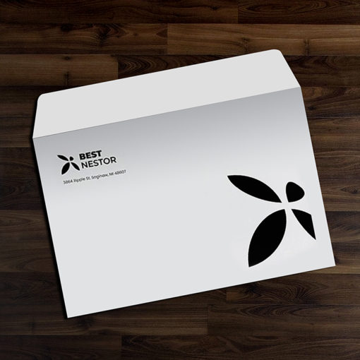 9″ x 12″ Envelopes | 9x12 Envelope Open on 12 Side Printing Front Only with White Premium Opaque-70lb (Opaque Uncoated Text-70lb) paper stock | PrintMagic