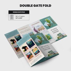 Print Products | Fold Option: Double-Gate-Fold for Brochures