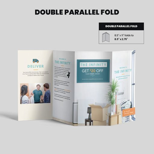 Print Products | Fold Option: Double-Parallel-Fold for Brochures