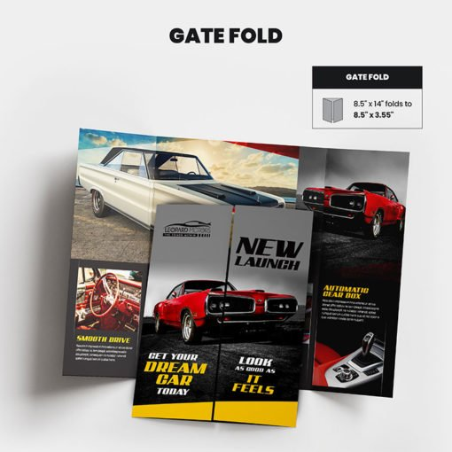 Print Products | Fold Option: Gate-Fold for Brochures