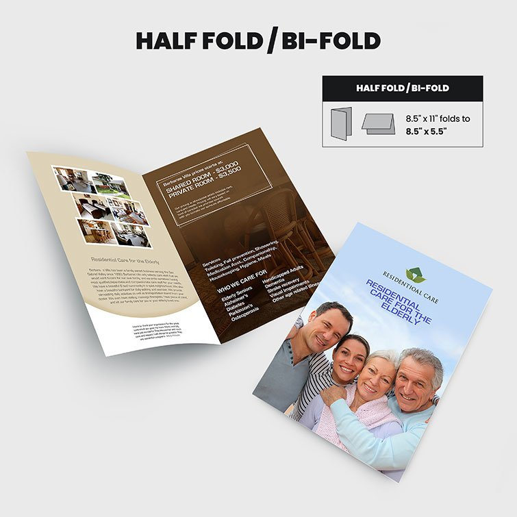 Print Products | Fold Option: Half-Fold for Brochures