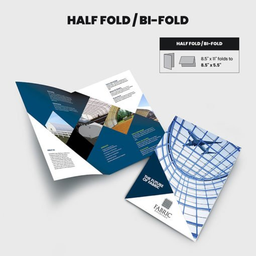Print Products | Fold Option: Half-Fold/Bi-Fold for Brochures