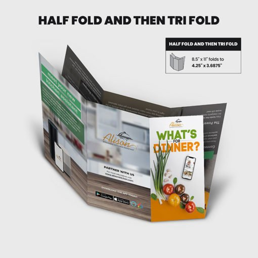 Print Products | Fold Option: Half-Fold & Then Tri-Fold for Brochures
