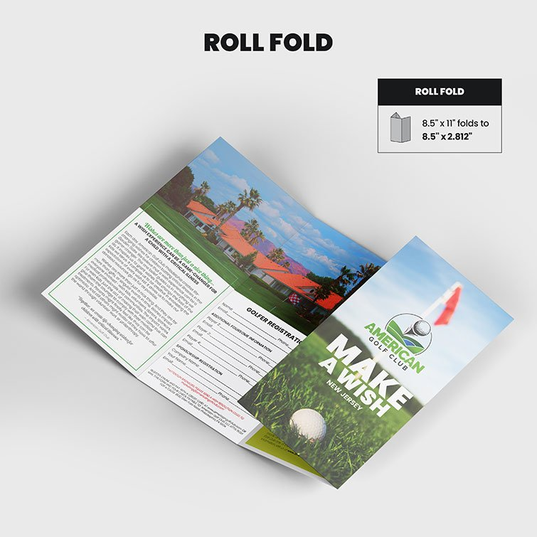 Print Products | Fold Option: Roll-Fold for Brochures