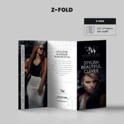 Print Products | Fold Option: Z-Fold for Brochures
