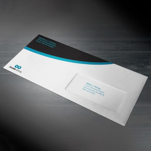 Window Envelopes | Outside Full Color Front Only with White Premium Opaque-70lb (Opaque Uncoated Text-70lb) Paper stock, Window on Right Side of the envelope | Custom Window Envelope | PrintMagic