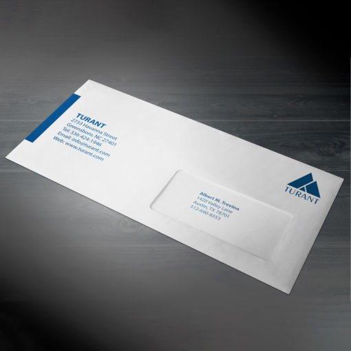 """Custom Window Envelope with Bigger window with 1.5"""" Height and Outside Full Color Front Only with White Premium Opaque-70lb (Opaque Uncoated Text-70lb) Paper stock, Window on Right Side of the envelope 