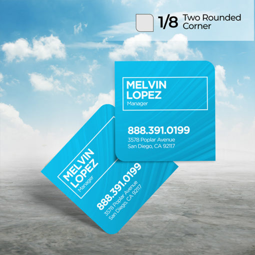 Two Rounded Corner Business Cards | Standard Gloss or Premium Gloss paper stock choices and Full-color, fade-resistant printing on 1 or 2 sides | PrintMagic