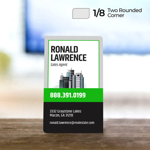"""Two Rounded Corner Business Cards 