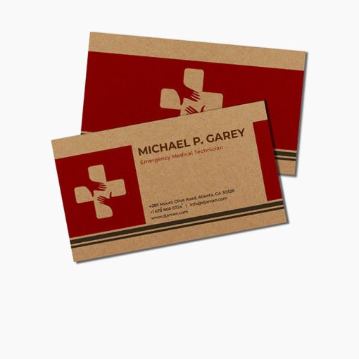 Brown Kraft Business Cards | Brown Kraft Business Cards | Brown Kraft Business Cards printing | Health and wellness | Thick Brown Kraft Uncoated And print side Front & Back With White mask | Print Magic