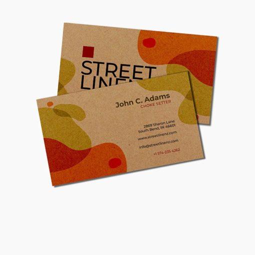 Brown Kraft Business Cards printing, Custom Brown Kraft Business Cards