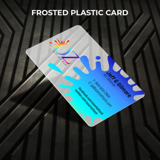 Plastic Business Cards | Horizontal Rectangle Rounded Corners Opaque Frosted Real Estate Home Décor Plastic Card | PrintMagic
