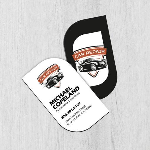 Leaf Business Cards | Business Cards Leaf Shape Vertical Automotive Industry | PrintMagic