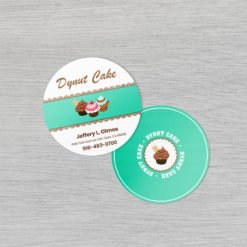 Circle Business Cards | Circle Business Cards printing | standard gloss and UV coating, print side Front & Back | Print Magic