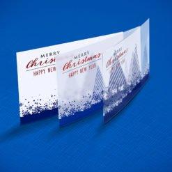Custom Plastic Postcards Printing, Merry Crismas Plastic Postcards