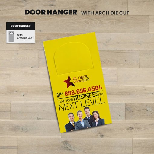 Printing Door Hangers, Die Cut Business Door Hangers