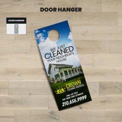 Print Door Hangers, Cleaning Door Hangers Online