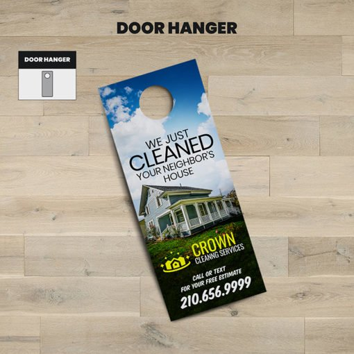 Print Door Hangers, Cleaning Door Hangers Online