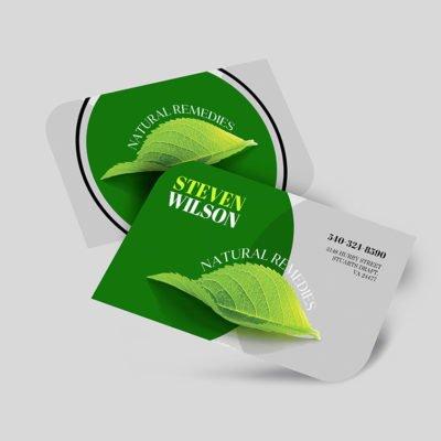 Leaf Shaped Business Cards, Leaf Business Cards printing, Custom Leaf Business Cards, Print Leaf Business Cards