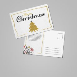 Custom Velvet Soft Touch Postcards | Christmas Velvet Soft Touch Postcards with Premium Gloss and Spot UV Coating Front and Velvet Soft Touch and printed front only | Print Magic
