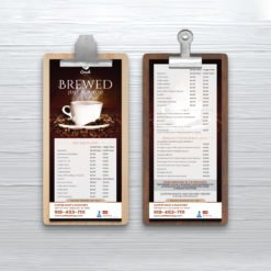 Custom Standard Menus online| Restaurant cafe Standard Menus with Standard Gloss Text-100lb and FLAT - No Folding & Scoring and printed Full color front and back | Print Magic