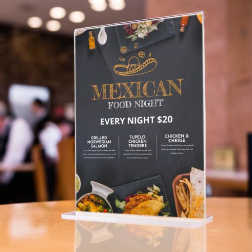 Custom Take Out Menus | Restaurant Take Out Menus with Standard Gloss Text-100lb and FLAT - No Folding & Scoring and printed Full color front and back | Print Magic