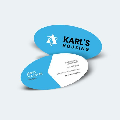 custom Oval Business Cards, Oval businees Cards printing