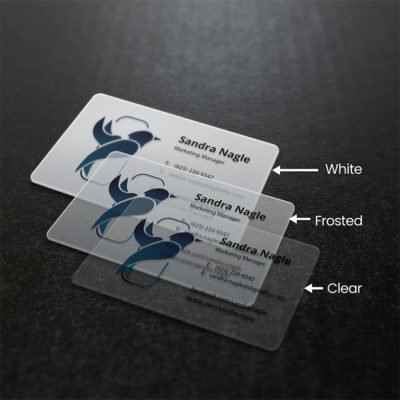Marketing Manager Plastic Business Cards | Plastic Business Cards printing with White, Frosted and clear | Print Magic