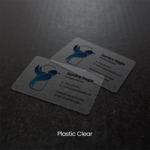 Marketing Manager Plastic Business Cards | Plastic Business Cards printing with Clear plastic cards | Print Magic