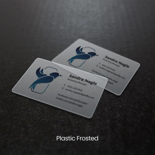 Marketing Manager Plastic Business Cards | Plastic Business Cards printing with Frosted plastic cards | Print Magic