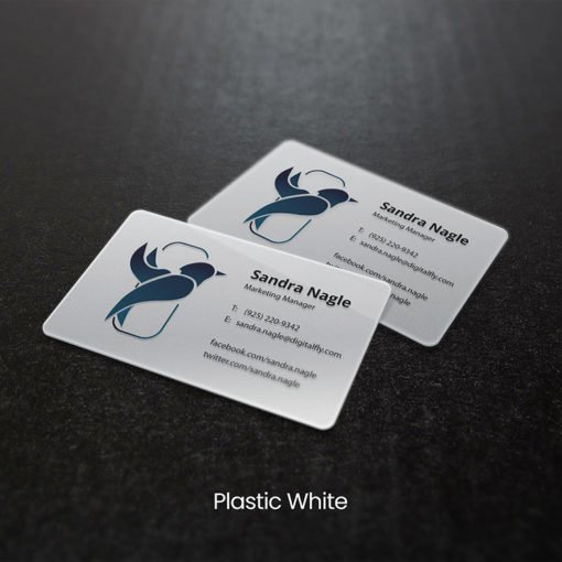 Marketing Manager Plastic Business Cards | Plastic Business Cards printing with white plastic cards | Print Magic