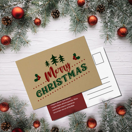"""Brown Kraft Postcards 