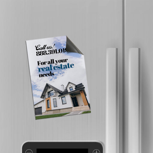 Postcard Magnets | Vertical Rectangle 17pt. Magnetic paper Stock Printed Front Side with UV Coating Real Estate Postcard | PrintMagic