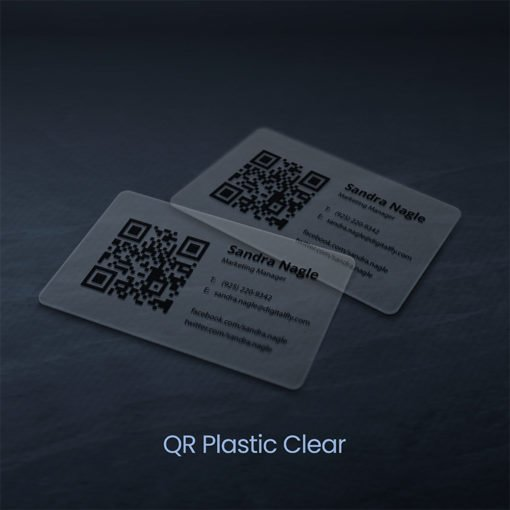 Plastic Business Cards | QR Plastic Business Cards with Clear plastic option And Strong, thick, and modern looking Business cards | PrintMagic