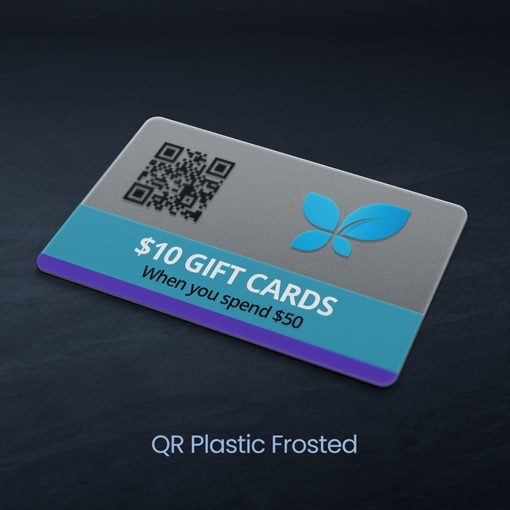 Plastic Postcards | QR Plastic postcards with Frosted plastic option And Small to big sizes from 2″ to 4.25″ with 15 size options | PrintMagic