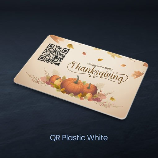 Plastic Postcards | QR Plastic postcards with White plastic option And Send marketing messages, mini newsletters, and official announcements | PrintMagic