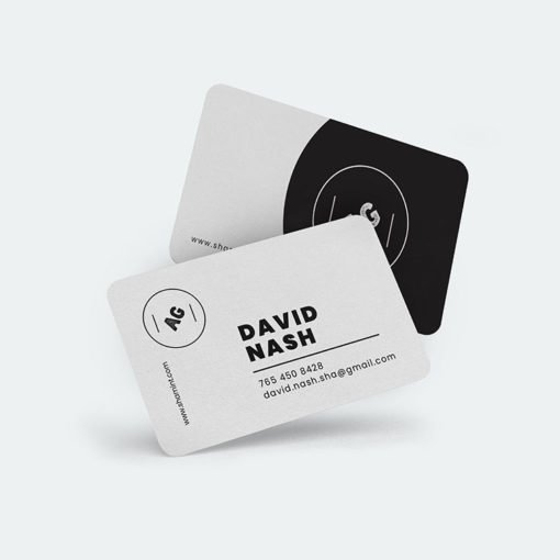 rounded edge business cards | Rounded Corner Business Cards printing | David Nash | Standard Gloss andUV Coating Front Only | Print Magic