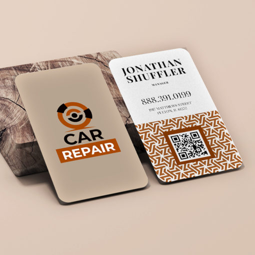 Rounded Corner Business Cards | Rounded Corner Business Cards Vertical Auto Industry | PrintMagic