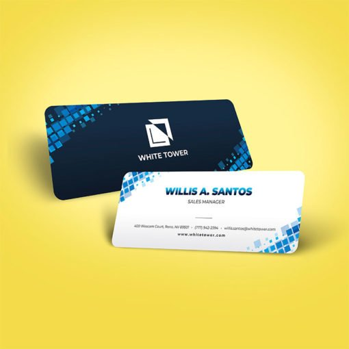 Slim Rounded Corner Business Cards | Rounded Corner Business Cards | Slim Rounded Corner Business Cards printing | Sales Manager | Standard Gloss and Rounded Corner 1/8"