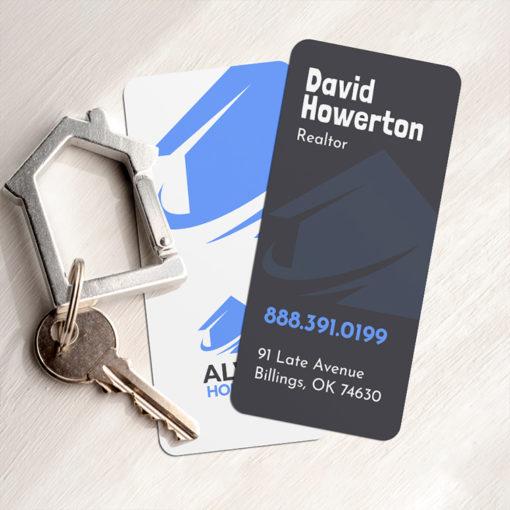 Slim Rounded Corner Business Cards | Slim Rounded Corners Business Cards Vertical Real Estate | PrintMagic