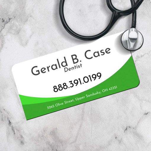 Slim Rounded Corner Business Cards | Slim Two Rounded Corners Business Cards Horizontal Medical Dentist | PrintMagic