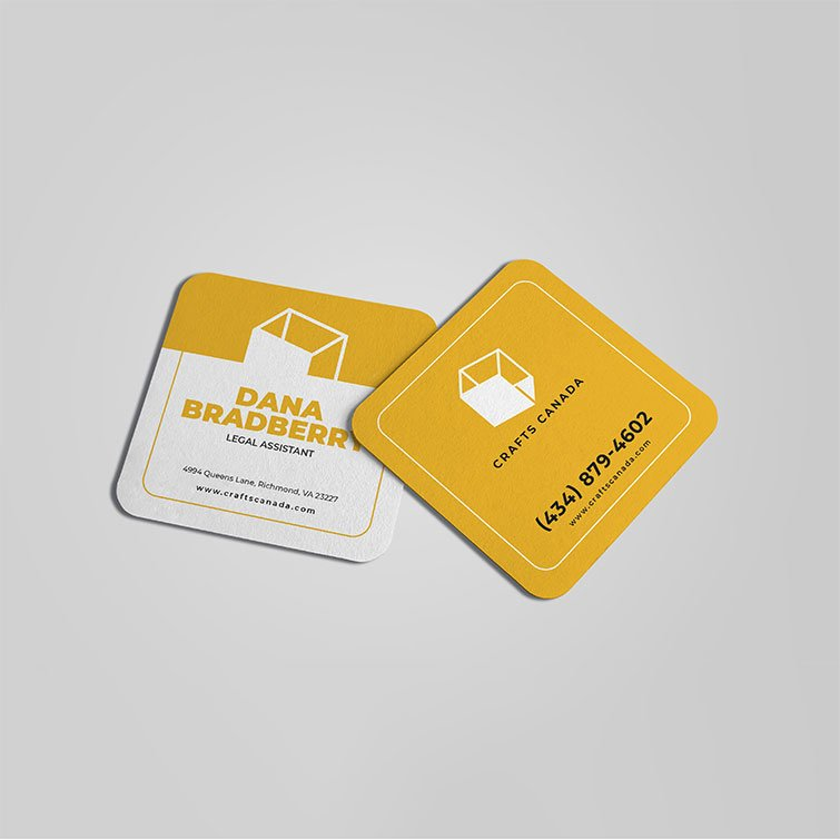 Square Business Cards Rounded Corners