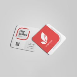 rounded square business cards | Square Rounded Corner Business Cards printing | Personnel Associate | Premium Gloss and UV Coating Front & Back Sides and Rounded Corner 1/4