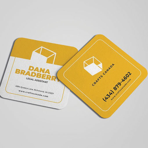 Rounded Corner Business Cards | Square Rounded Corner Business Cards Legal Advisor | PrintMagic