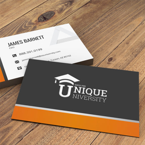 Velvet Soft Touch Business Cards | Velvet Soft Touch Business Card Horizontal Rectangle Education | PrintMagic