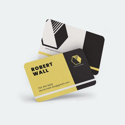 Velvet Soft Touch Business Cards | Velvet Soft Touch Business Card Horizontal Rectangle Rounded Corners Real Estate | PrintMagic